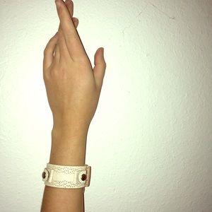 🦖Fossil Leather Bracelet Cuff
